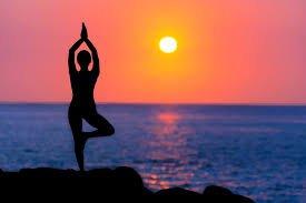 Yoga al tramonto...Super!
