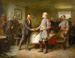 IL GENERALE ULYSSES GRANT INCONTRA IL GENERALE ROBERT LEE. LEE SI ARRENDE, L'AMERICA TORNA UNITA- APPOMATTOX COURT HOUSE- 9 APRILE 1865- STEFANO JACURTI ( Grant) Vincenzo Sartini (Lee)