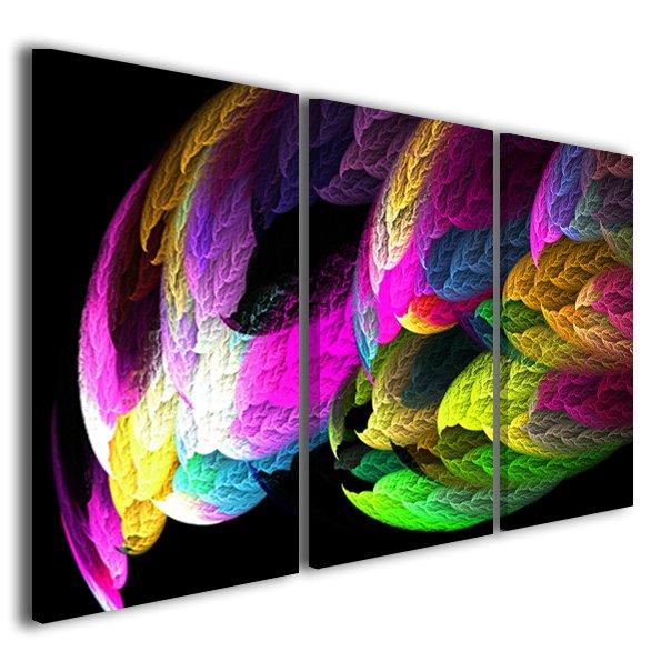 Quadro astratto Abstract fire colors