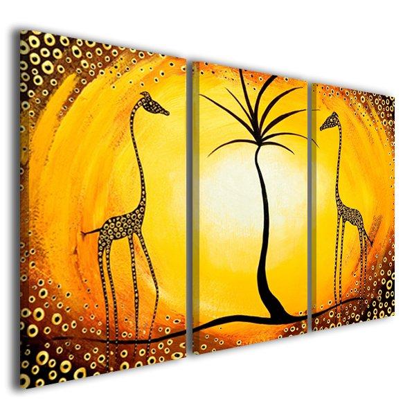 Quadri moderni etnici African giraffes