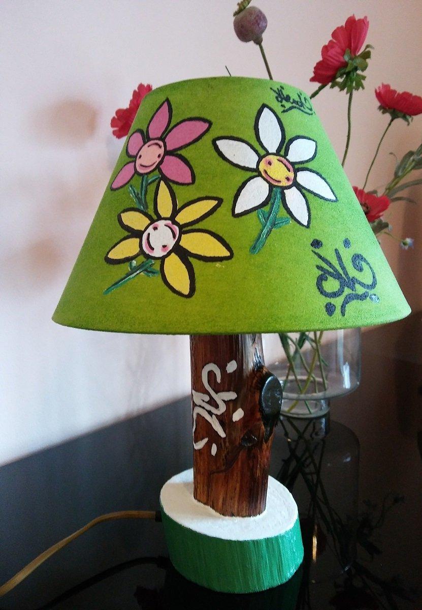#LumeFiori_Verde / lampada fiori verde