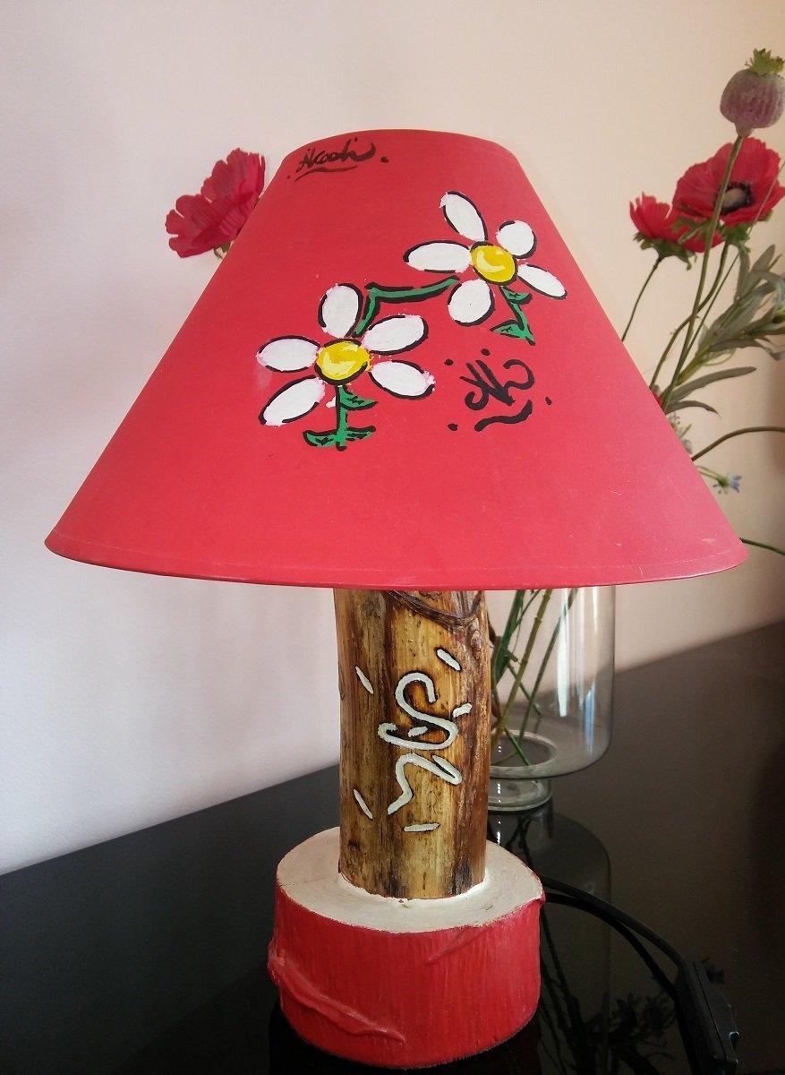 #LumeFiori_Rosso / lampada fiori rosso