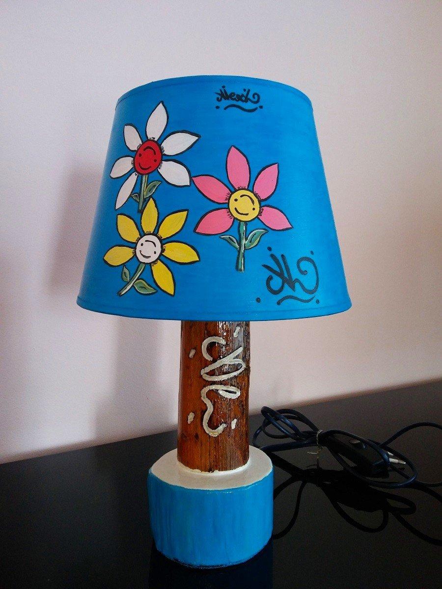 #LumeFiori_M2Blu / Lampada fiori M2 blu