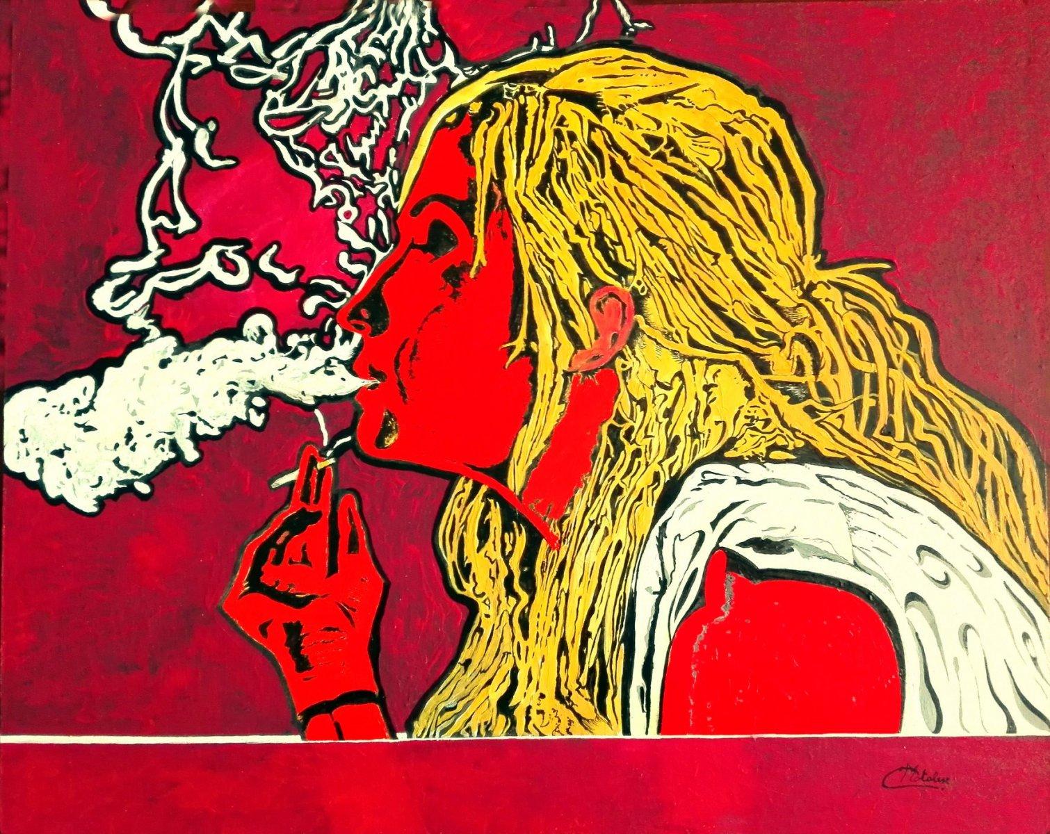 La Fumatrice.