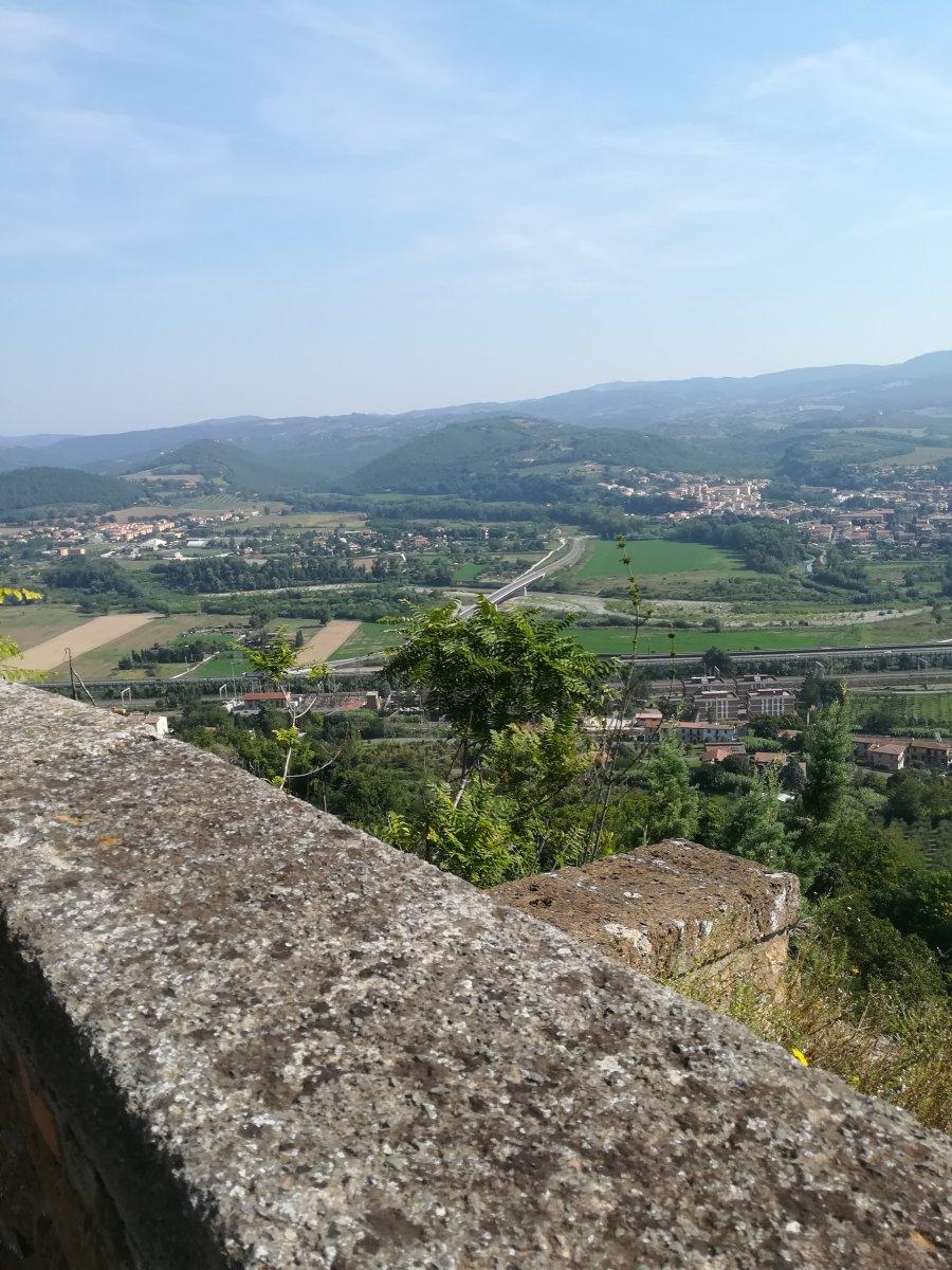 panorama da Orvieto vecchia