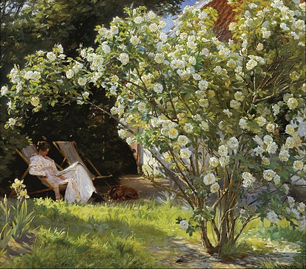 443px-P.S._Krøyer_-_Roses._Marie_Krøyer_seated_in_the_deckchair_in_the_garden_by_Mrs_Bendsen's_house_-_Google_Art_Project.jpg