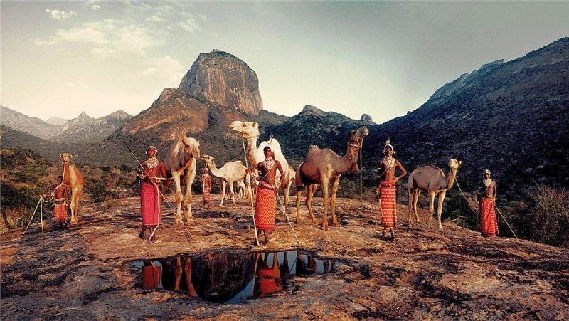 Tribù Samburu ai piedi del Monte Kenya