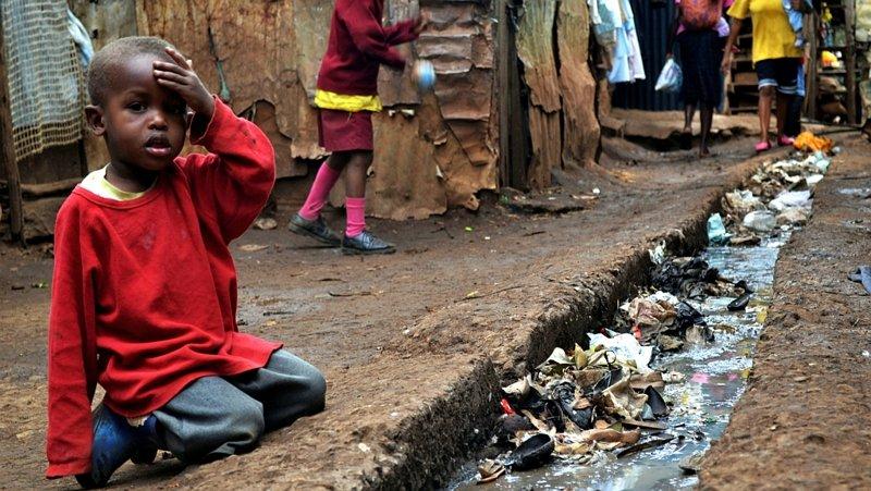 Kibera slum in Nairobi