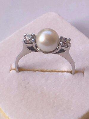anello perla oro