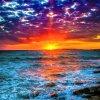 nel tramonto